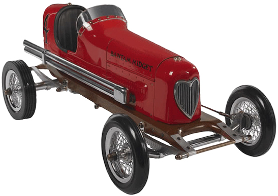 Bantam Midget Tether Car - Red